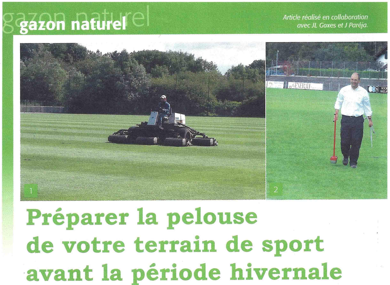Pr parer la pelouse de votre terrain de sport avant l for Derniere tonte gazon avant hiver