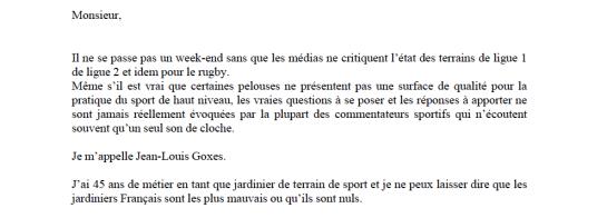 lettre JL Goxes aux commentateurs sportifs